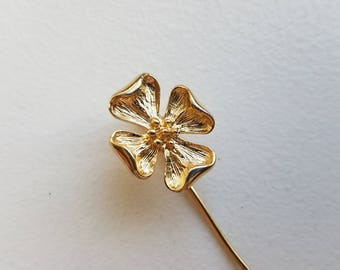 Gold Tone Dogwood Flower Stick Pin