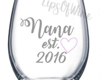 Wine Glass For Nana
