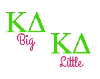 Big Little Sorority Greek Monogram Vinyl Decal Sticker Tri Delta Kappa Kappa Gamma Alpha Delta Pi Alpha Xi Delta Zeta Theta Tri Sigma