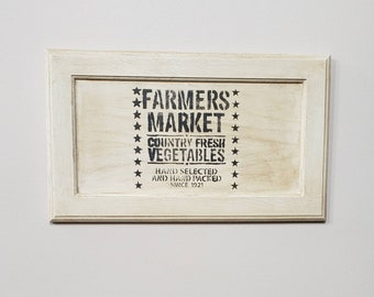 Farmhouse Farmers market cabinet sign