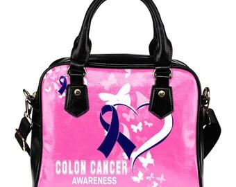 Colon Cancer Awareness Shoulder Bag / Handbag
