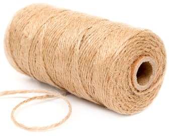 Bakers Twine, 12 Ply Bakers Twine, 100 Yard Spool of Twine, Natural Brown Bakers Twine, Camping Party Decor Rustic Wedding Favor Baby Shower