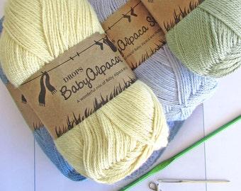 Crossbill crochet cowl kit - crochet neck warmer - crochet gift - easy crochet cowl - yarn kit - crochet present - gifts for crocheters