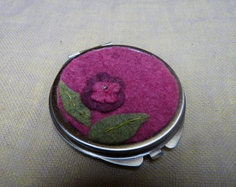 bronze color Pocket mirror with pouch