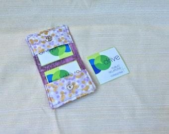 Purple & Gold Square Business Card Case/Earphone Case