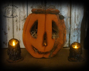 Primitive Jack O Lantern with Tealight