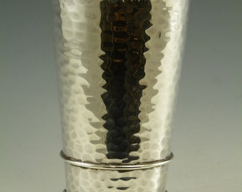 Sterling SILVER - ARTS and CRAFTS Vase / Beaker - Sandheim Brothers 1916