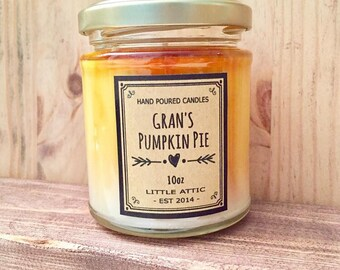Pumpkin Pie Scented Soy Candle, Pumpkin Candle, Pumpkin Soy Candle, Fall Scents, Handemade Scented Candles, Autumn Candles