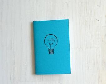Small Notebook: Lightbulb, Idea, Blue, Inspire, Bright, Fun, Hipster, Favor, Unique, Inspiration Notebook, Gift, Journal, Notebook, RRR197