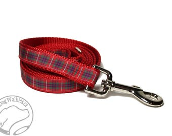 Fraser Clan Tartan Leash // Matching Tartan Dog Leash in all widths // custom lengths // Plaid Leashes // Tartan Lead // Handmade
