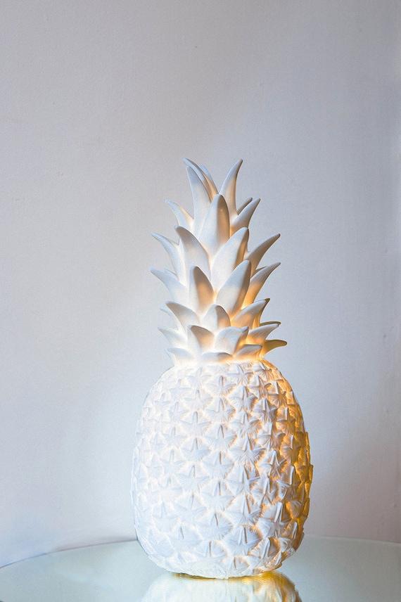 Pina Colada Lamp In White Contemporary Pineapple Night