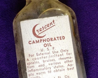 Crescent Camphorated Oil from the Brown Drug and Chemical Co in Philadelphia, PA