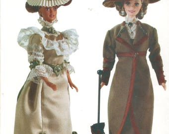 Vogue 7109 691 Linda Carr Fashion Doll Clothes Pattern Barbie Doll Historical 1900 1910 Outfits 11 1/2 Inch Doll Clothes Sewing Pattern UNCT