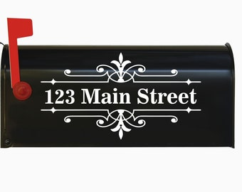 Custom Personalized Vinyl Mailbox Decal #8 - SET OF 2 - 16 Colors To Choose From!