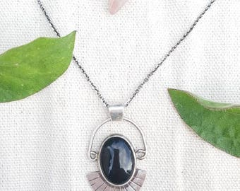 Black Onyx Sterling Silver - Ocean Siren Anulet