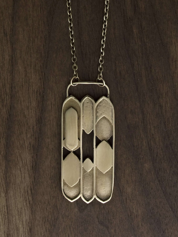 Anuket Deco Large Pendant - Dramatic & Bold Focal Point - Interpretation of Ancient Egyptian Motifs - Nile Waters Unique Gift Natural