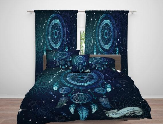 traum catcher tr ster oder bettbezug traumf nger blaue. Black Bedroom Furniture Sets. Home Design Ideas