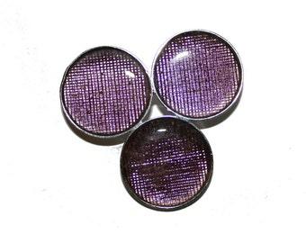 Vintage Mod Austrian Glass Brooch - Vintage circular geometric brooch purple lavender brooch pin