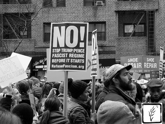 """""""No!"""" New York City Women's March, 2017."""