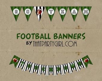 FOOTBALL Party  Banner - DIY digital U Print - Instant Download