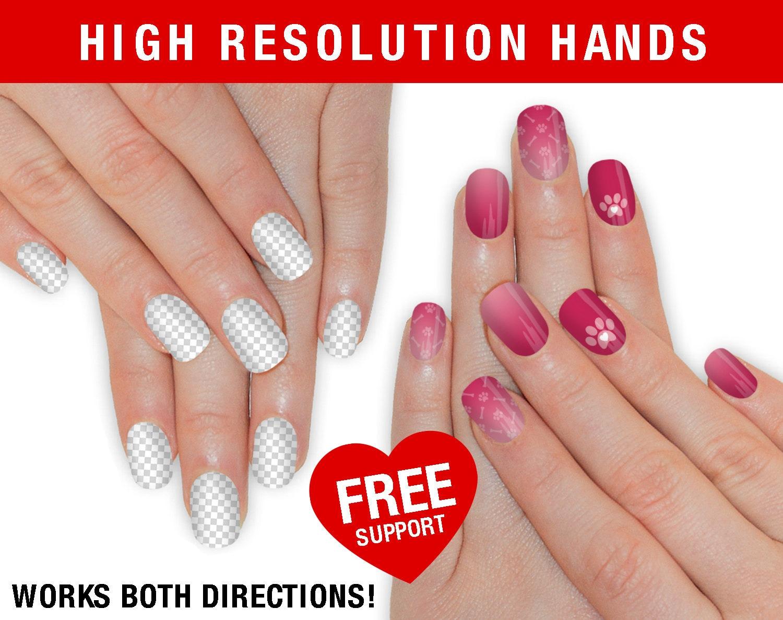 SALE! High Resolution Real Hand Mockup - Nail Wrap NAS Hand Mockup ...