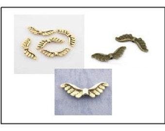 12 - engel vleugel kralen 22 x 7 mm