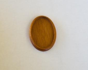 Large LIGHT bezel setting fine finished hardwood - Mahogany - 34 x 52 mm cavity - (A603c-M)
