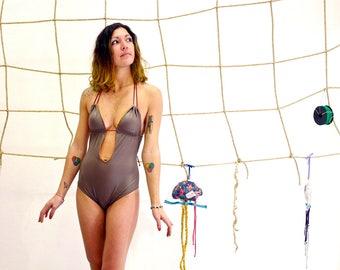 Swimsuit reversible costume da bagno intero pois