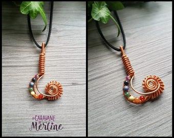 Colored copper wire weaving