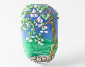 Lampwork Landscape Tree Bead