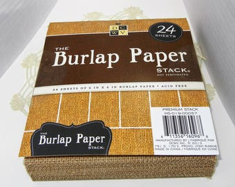 Burlap Paper Stack, 24 Sheets, 6 x 6 inches, Acid Free: Burlap Paper Pad Fun Craft Paper, DCWV, The Burlap Paper Stack