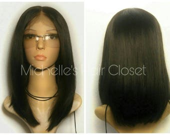 The BEST BOB!! 100% Human Hair Premium Quality Invisible Lace Front Wig * Bleached Knots & Pre-plucked for NATURAL Hairline!!