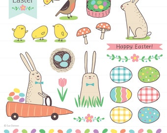 on sale bunny bunch cute digital clipart easter bunny clip rh etsy com etsy clipart free etsy clipart flowers