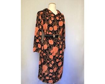 90's floral tent dress / peter pan collar / floral dress / 90's dress / oversized dress / collared dress / 90s clothing / comfortable dress