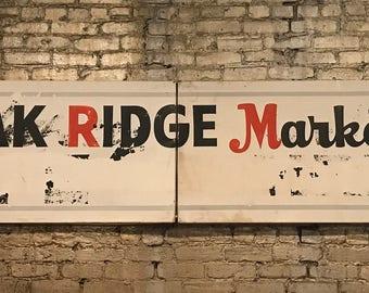 Vintage Coca-Cola Oak Ridge Market Store Sign Restaurant Home Decor