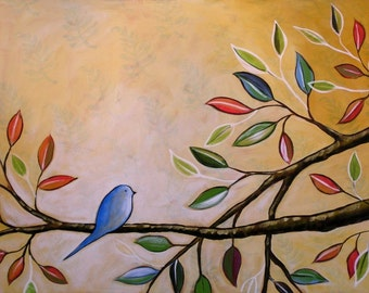 Bird art print, Great gift idea, Contemplating -- 8 x 10 Glossy Print by Amy Giacomelli