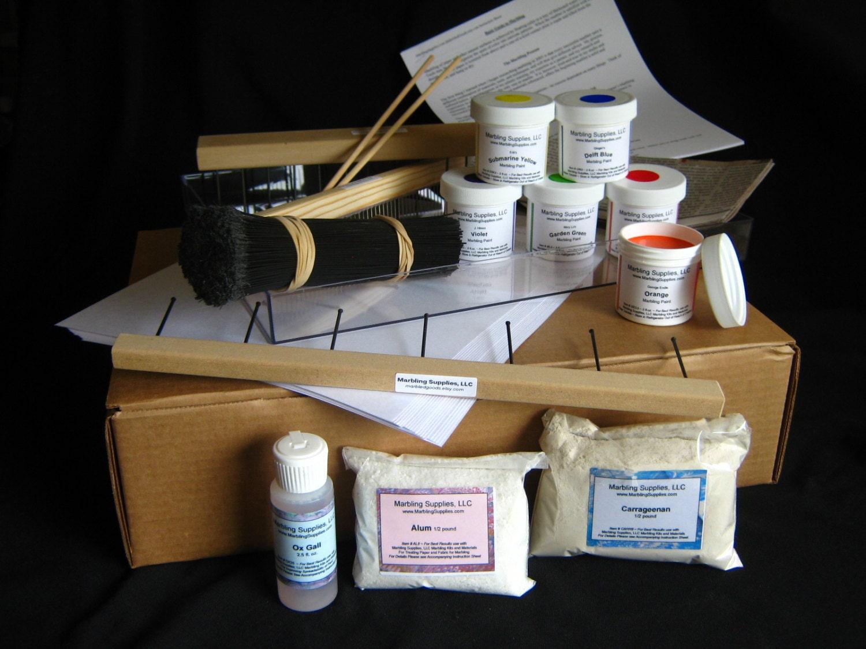 Marbling Kit How to Make Marbled Paper DIY Marbleizing