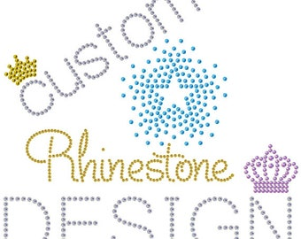 Custom Rhinestone Design - digital download - Make Your Own Shirt DIY!
