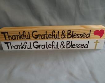 Thankful Grateful & Blessed Shelfy
