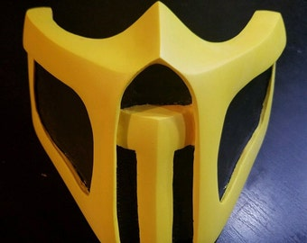 NEW Handmade Mortal Kombat cosplay mask Scorpion Theme US SELLER (N0 Scratches)