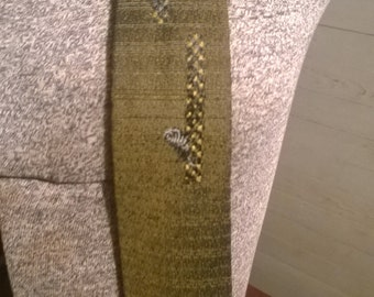 Vintage tie brown and olive