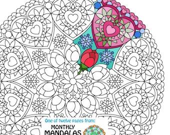 Mandala Coloring Page St Patricks Day printable March
