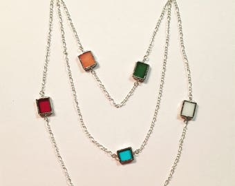 Layered Chain Charm Necklace