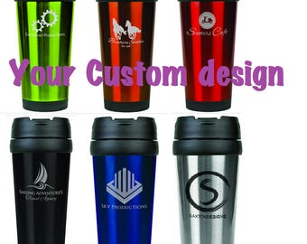 Personalized 14oz Travel tumbler by Jackglass on Etsy