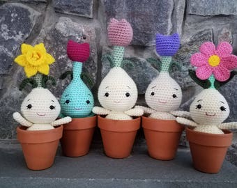 Large Flower Bulbs - Crochet - Amigurumi