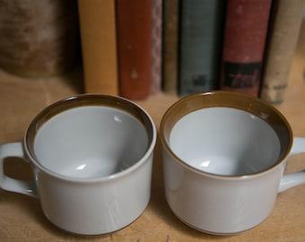 Set of Vintage Monterrey Stoneware Mugs