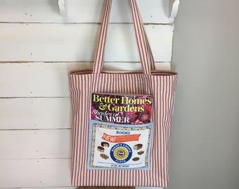 Vintage inspired tote bag