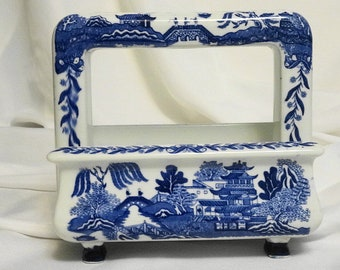 """Blue Willow porcelain toaster """"Toastrite"""" by Pan Electric Mgf. Co."""