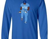 "LONG SLEEVE Bo Jackson Kansas City ""Bat Break"" T-shirt"