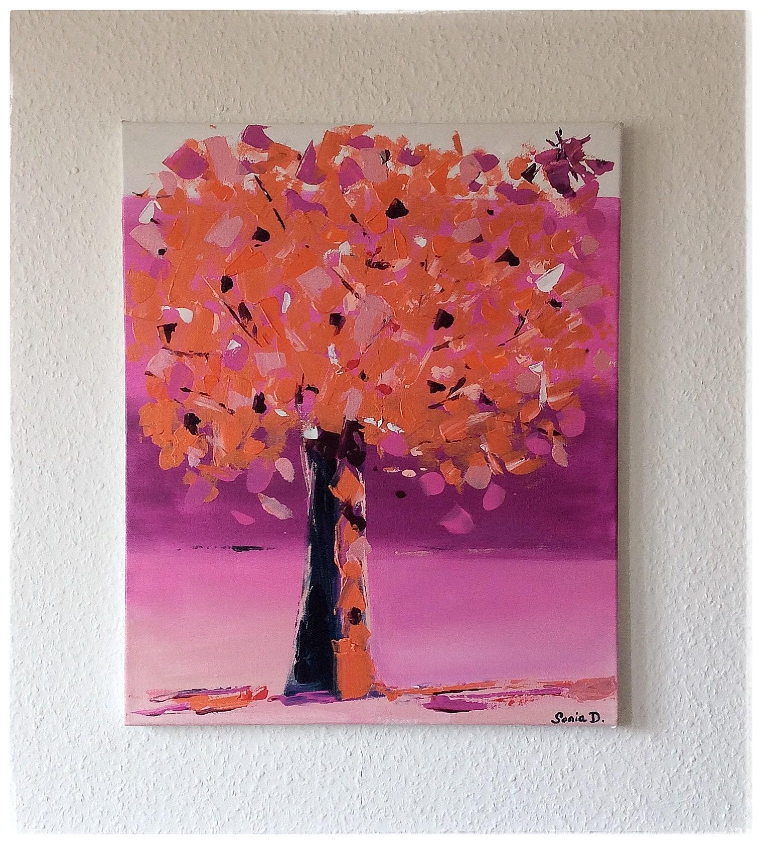 tableau moderne arbre color tableau abstrait arbre. Black Bedroom Furniture Sets. Home Design Ideas